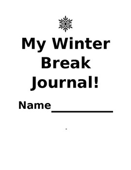 Winter Break Journal