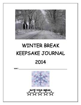 Winter Break Keepsake Journal/Fun Activity for After the Break