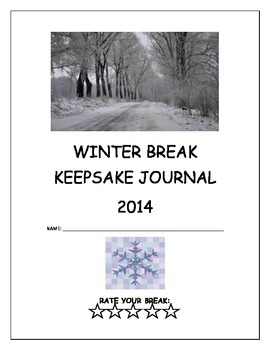 Winter Break Keepsake Journal/Fun Activity for After the Break