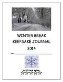 Winter Break Keepsake Journal/Homework for 5th, 6th, 7th,