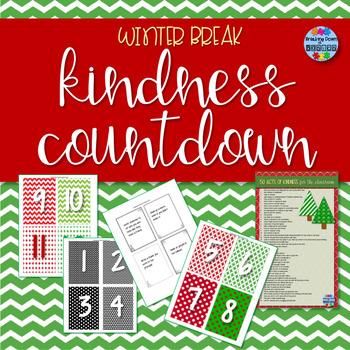 Winter Break Kindness Countdown