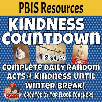 Winter Break Kindness Countdown or Advent Calendar