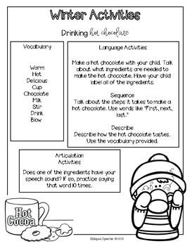 Winter Break Language Packet - English!