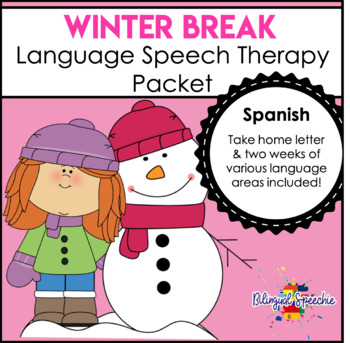 Winter Break Language Packet - Spanish!