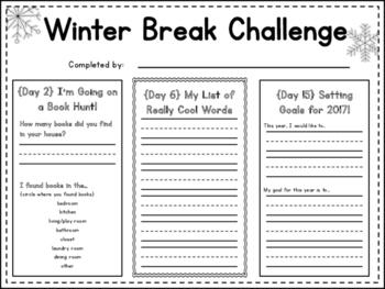 Winter Break Challenge for Elementary Classrooms!