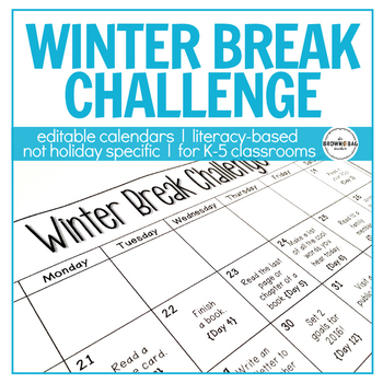 Winter Break Challenge for Elementary Classrooms! *UPDATED FOR 2018*