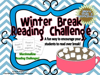 Winter Break Marshmallow Reading Challenge