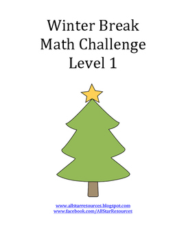 Winter Break Math Challenge Level 1