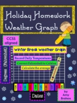 Winter Break Math Homework-Graphing the Weather using Fahrenheit Temperatures