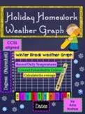 Winter Break Math Homework-Graphing the Weather using Fahrenheit Temperatures