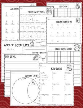 Winter Break Math and Literacy Packet