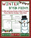 Winter Break Math and Literacy Packet