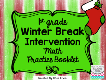 Winter Break Math for 1st grade