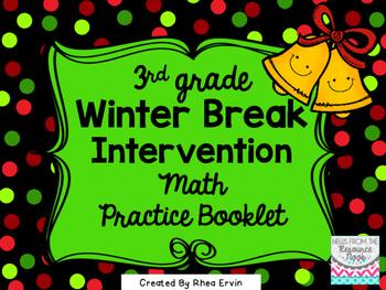 Winter Break Math for 3rd grade