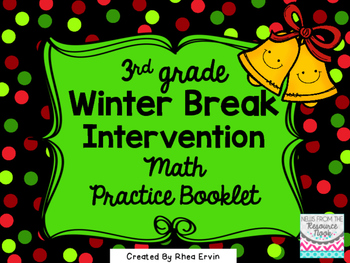 Winter Break Math for 3rd grade