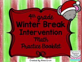 Winter Break Math for 4th grade