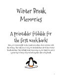 Winter Break Memories Foldable Printable