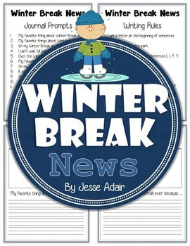 Winter Break News: Journal Prompts