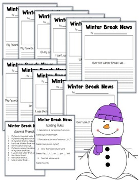 Winter Break News: Journal Prompts
