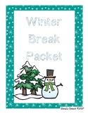 Winter Break Packet 1st-2nd Grade