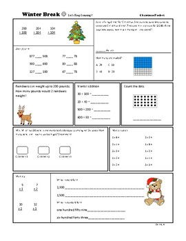 Winter Break Packet 2nd-3rd Grade!