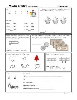 Winter Break Work Packet 2nd-3rd Grade!