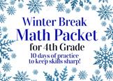 Winter Break Packet / Christmas Holiday Packet - 4th Grade Math