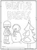 Winter Break Packet Freebie