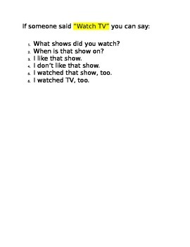 Winter Break Question Comment Script