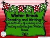 Winter Break Reading Calendar