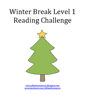 Winter Break Level 1 Reading Challenge