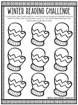 Winter Break Reading Challenge - FREEBEE!