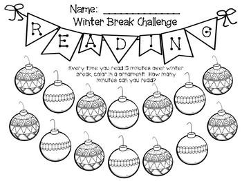 Winter Break Reading Challenge  - American Reading Challenge Steps
