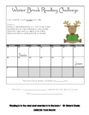 Winter Break Reading Challenge Calendar