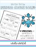 Winter Break Reading Choice Board
