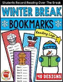 Winter Break Reading Log Bookmarks   Christmas, Hanukkah, Kwanzaa, Winter Themes