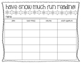 Winter Break Reading Log (Spanish Translation option!)