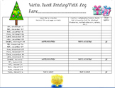 Winter Break Reading & Math Log
