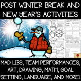 Winter Break Review and New Year's Goals Setting Activity Set