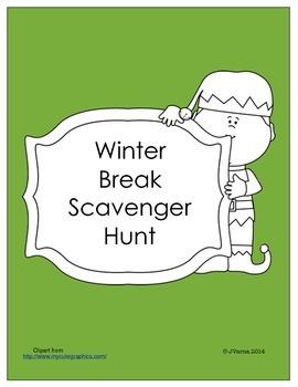 Winter Break Scavenger Hunt