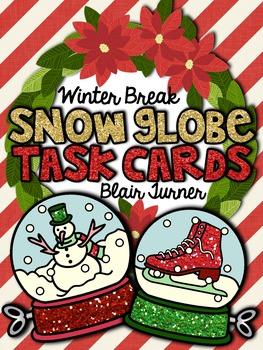 Winter Break Snow Globe Task Cards