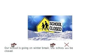 Winter Break Social Story