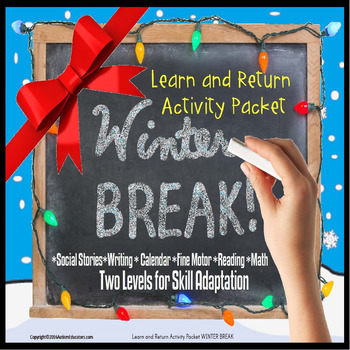 Winter Break TAKE HOME Activity Packet Special Education and Autism Resource