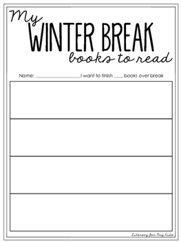 Winter Break TBR (to be read) Book List