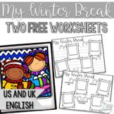Winter Break Worksheet- Freebie