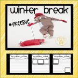 Winter Break Writing Freebie