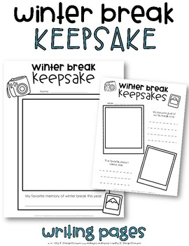 Winter Break Writing Pages