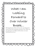 Winter Break Writing Prompt