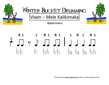 Winter Bucket Drumming