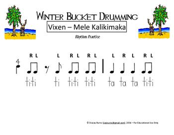 Winter Bucket Drumming